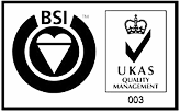 Awards: BSI UKAS Quality Management